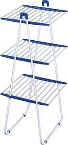 STANDTROCKNER - Blau/Weiß, Basics (155/66/61cm) - Leifheit