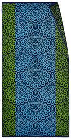 STRANDTUCH 90/180 cm - Blau/Grün, KONVENTIONELL, Textil (90/180cm) - Esposa