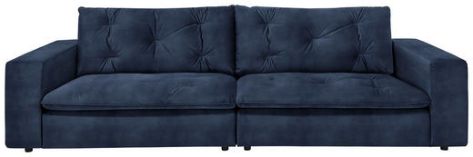 SOFA in Textil Blau, Dunkelblau - Blau/Schwarz, Design, Kunststoff/Textil (290 87 122cm) - Ambiente