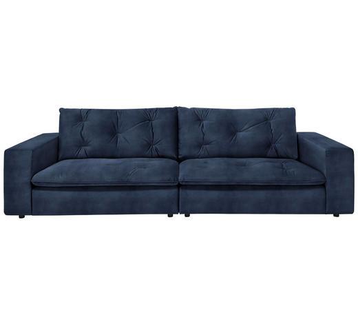 SOFA in Textil Blau, Dunkelblau  - Blau/Schwarz, Design, Kunststoff/Textil (290/87/122cm) - Ambiente