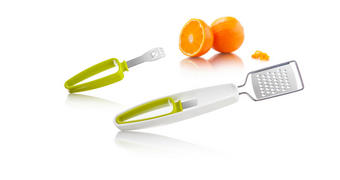 STRGALNIK - zelena/bela, Konvencionalno, kovina/umetna masa (23,5/3/2cm) - Tomorrow's Kitchen