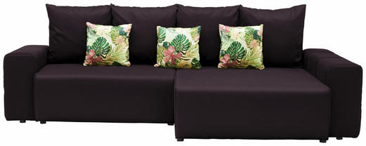 WOHNLANDSCHAFT in Textil Dunkelgrau, Multicolor - Dunkelgrau/Multicolor, Design, Kunststoff/Textil (282/158cm) - Carryhome