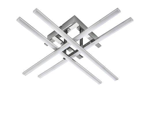 LED STROPNÍ SVÍTIDLO - barvy chromu, Design, kov/umělá hmota (50/50/9cm) - Novel