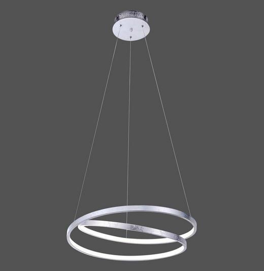 LED-HÄNGELEUCHTE - Silberfarben, LIFESTYLE, Metall (55/55/120cm)