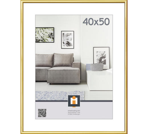 RÁM NA OBRAZY, 51/41/1.75 cm, barvy zlata - barvy zlata, Basics, umělá hmota/sklo (51/41/1.75cm)
