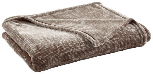 WOHNDECKE 150/200 cm Taupe - Taupe, KONVENTIONELL, Textil (150/200cm) - Novel