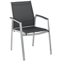 STAPELSESSEL Aluminium Anthrazit, Silberfarben - Anthrazit/Silberfarben, Design, Textil/Metall (61/57/90cm) - KETTLER HKS