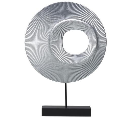PLASTIKA - černá/barvy stříbra, Basics, kov/kompozitní dřevo (25/36/6cm) - Ambia Home