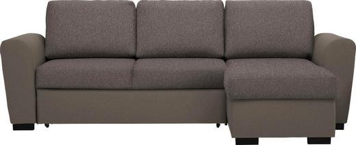 WOHNLANDSCHAFT in Textil Braun, Hellbraun - Hellbraun/Schwarz, Design, Kunststoff/Textil (250/157cm) - Carryhome