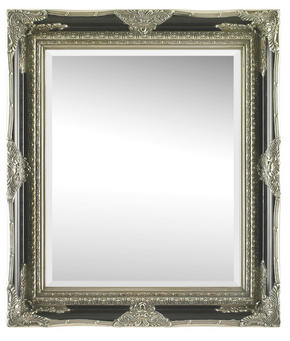 SPEGEL - silver/svart, Lifestyle, glas/trä (70/80/6,1cm) - Landscape