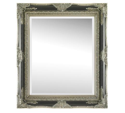 ZRCADLO, 70/80/6,1 cm,  - černá/barvy stříbra, Lifestyle, dřevo/sklo (70/80/6,1cm) - Landscape