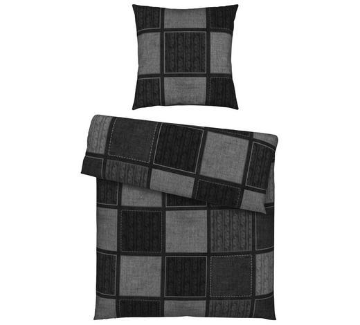 BETTWÄSCHE Satin Anthrazit, Graphitfarben 155/220 cm  - Anthrazit/Graphitfarben, Design, Textil (155/220cm) - Novel
