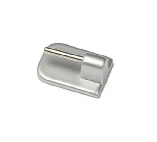 SELBSTKLEBEHAKEN  - Silberfarben, Basics, Kunststoff (1.6/2.3cm) - Homeware