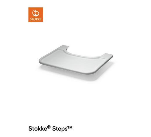 ESS- UND SPIELBRETT Grey  - Hellgrau, Trend, Kunststoff (49/9/41cm) - Stokke