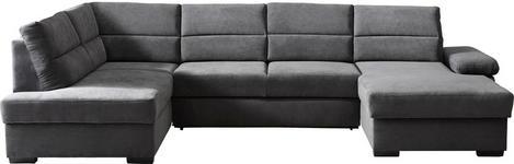 WOHNLANDSCHAFT in Anthrazit Textil - Dunkelbraun/Anthrazit, KONVENTIONELL, Kunststoff/Textil (183/319/166cm) - Cantus