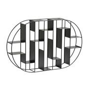 STENSKI REGAL - črna, Design, kovina (64/9/40cm) - XORA