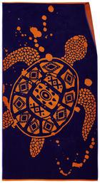 STRANDTUCH 90/180 cm - Schwarz/Orange, MODERN, Textil (90/180cm) - Esposa