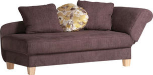 LIEGE in Braun Textil - Naturfarben/Braun, KONVENTIONELL, Textil (203/84/91cm) - Cantus