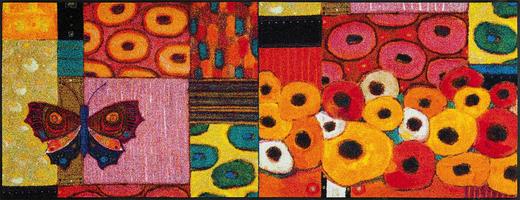 FUßMATTE 75/190 cm Graphik Multicolor, Rot - Rot/Multicolor, Basics, Kunststoff/Textil (75/190cm) - Esposa