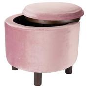 HOCKER - Naturfarben/Rosa, Trend, Holzwerkstoff/Textil (48,5/40cm) - Ambia Home