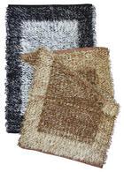 RUČNO TKANI TEPIH - bijela/crna, Basics, tekstil (70/140cm) - Boxxx