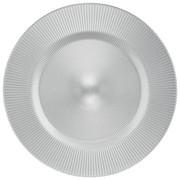 PLATZTELLER  34 cm - Silberfarben, KONVENTIONELL, Glas (34cm) - NOVEL