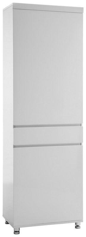 GARDEROB - vit/kromfärg, Design, metall/träbaserade material (65/197/40cm) - Xora