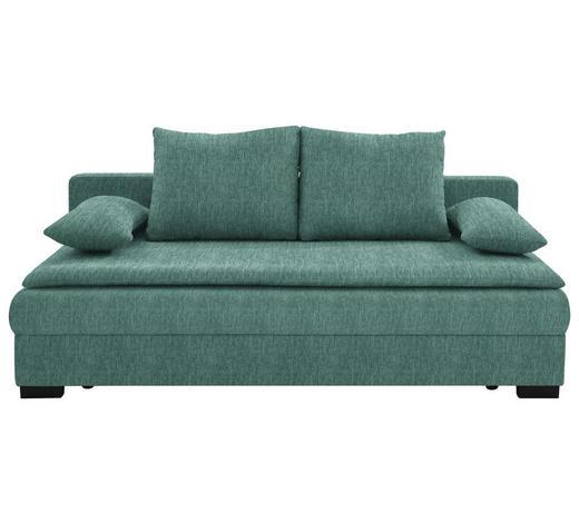 SCHLAFSOFA in Textil Türkis - Türkis/Schwarz, KONVENTIONELL, Kunststoff/Textil (207/74-94/90cm) - Venda