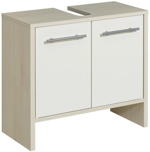 WASCHBECKENUNTERSCHRANK Weiß - Alufarben/Weiß, KONVENTIONELL, Holzwerkstoff (62,0/54,3/28,0cm) - Xora