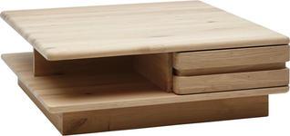 COUCHTISCH Wildeiche massiv quadratisch Eichefarben  - Eichefarben, Design, Holz (95/33/95cm) - Valnatura