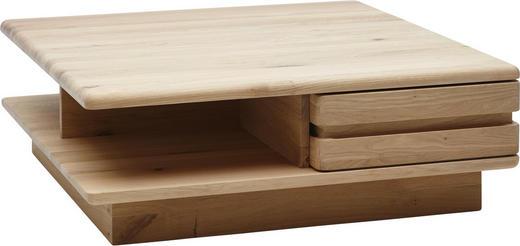 COUCHTISCH Wildeiche massiv quadratisch Eichefarben - Eichefarben, Design, Holz (95/32,5/95cm) - Valnatura