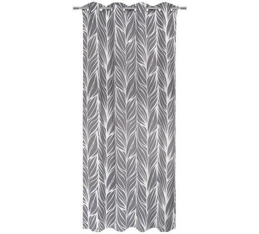 ÖSENSCHAL  black-out (lichtundurchlässig)  135/245 cm   - Grau, Design, Textil (135/245cm) - Esposa