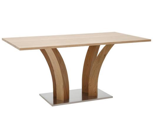ESSTISCH in Holz, Metall, Holzwerkstoff 160/90/76 cm - Edelstahlfarben/Eichefarben, Design, Holz/Holzwerkstoff (160/90/76cm) - Dieter Knoll