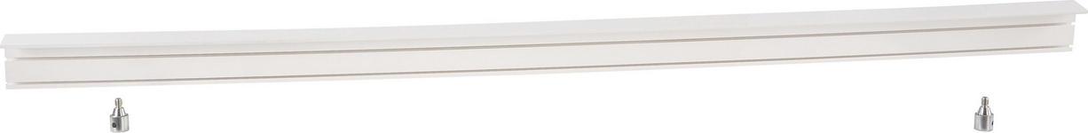 Vorhangschiene 200 cm - Weiß, KONVENTIONELL, Kunststoff (200/5/7.5cm) - Ombra