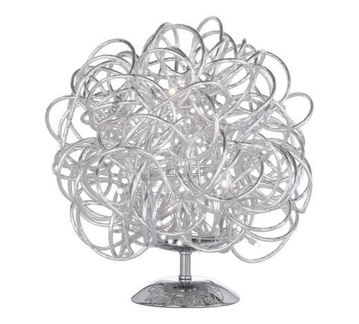 LED-TISCHLEUCHTE   - Silberfarben, Design, Metall (30/32cm)