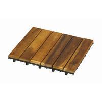 Terrassenfliesen 4er Pack - Akaziefarben, Basics, Holz (30/30cm)
