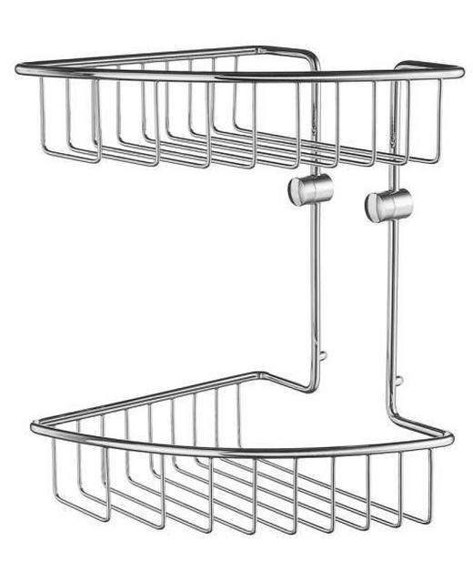 SEIFENKORB - Chromfarben, Basics, Metall (20,7/29,5/20,7cm)
