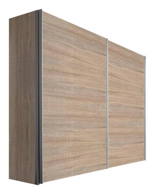SCHWEBETÜRENSCHRANK 2-türig Sonoma Eiche - Alufarben/Sonoma Eiche, KONVENTIONELL, Holzwerkstoff/Metall (250/216/68cm) - Hom`in