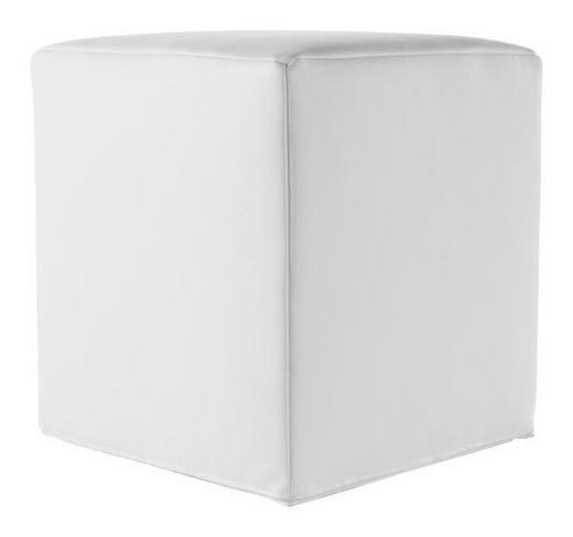 SITZWÜRFEL Lederlook Weiß - Weiß, Design, Textil (36/40/36cm) - Carryhome