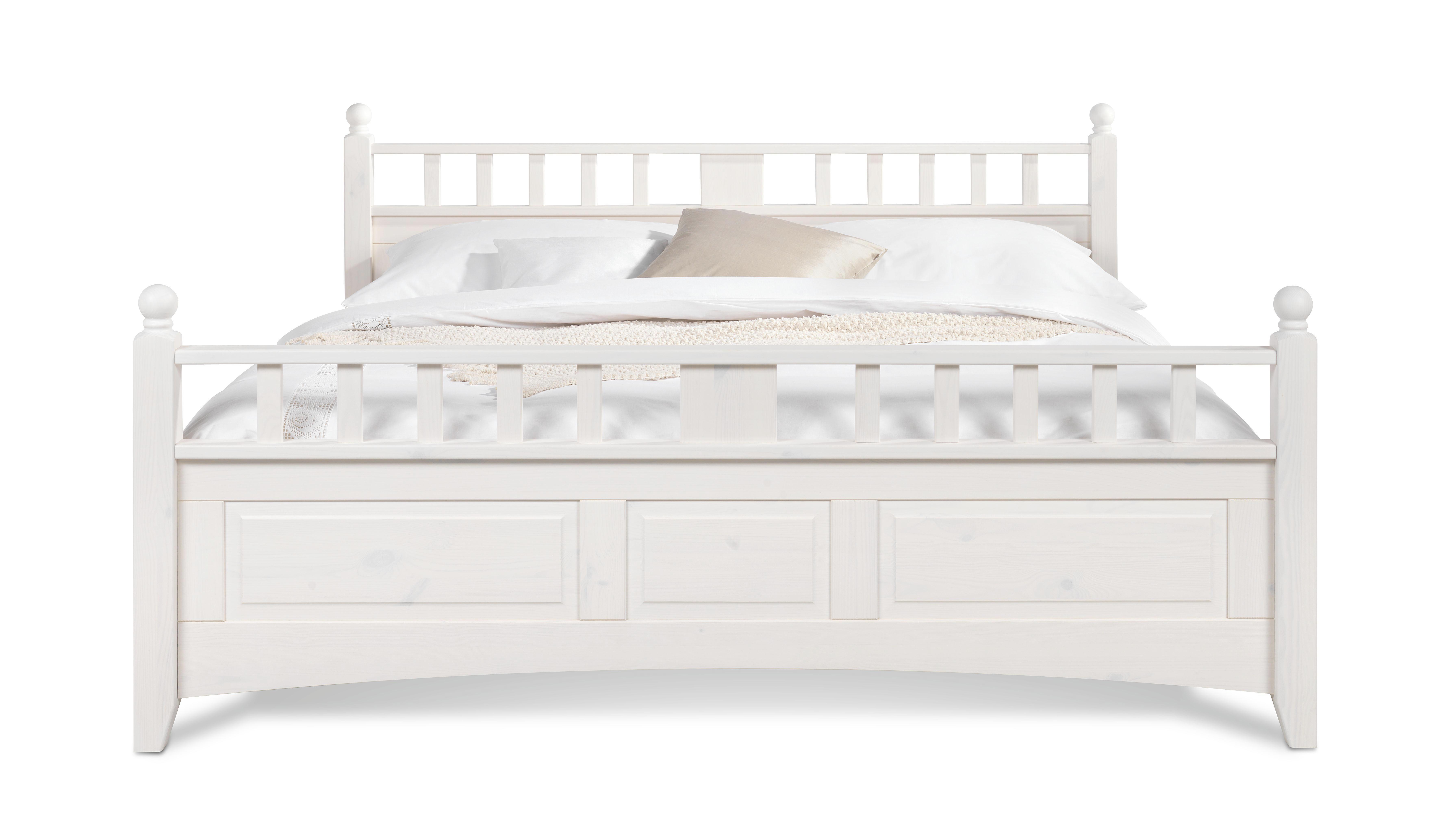 BETT 180 cm   x 200 cm   in Holz Weiß - Weiß, LIFESTYLE, Holz (180/200cm) - LANDSCAPE