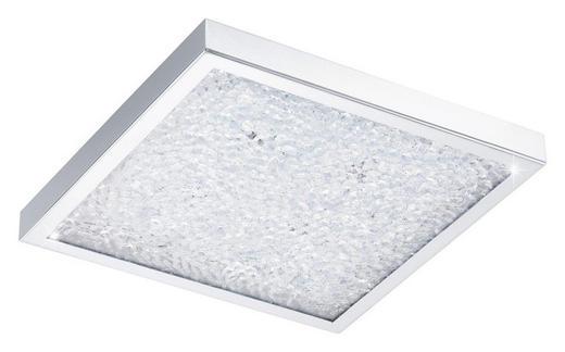 LED-PANEEL - Chromfarben/Klar, Design, Glas/Metall (32/32/5,5cm)