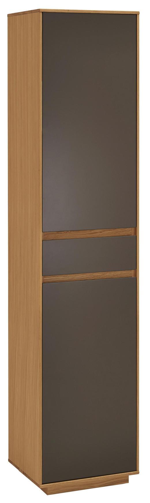 GARDEROBENSCHRANK 44/193/37 cm - Eichefarben/Dunkelbraun, Design, Holz/Holzwerkstoff (44/193/37cm) - Novel