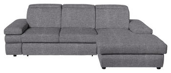WOHNLANDSCHAFT in Textil Grau  - Schwarz/Grau, Design, Kunststoff/Textil (263/171cm) - Hom`in