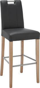 BARSKA STOLICA - boje hrasta/crna, Design, drvo/tekstil (48/111,5/54,5cm) - Hom`in