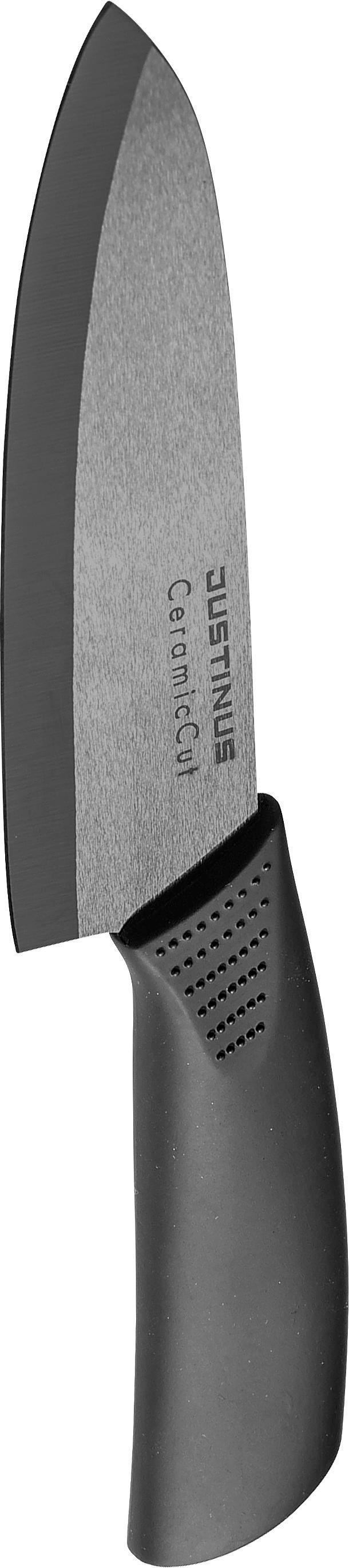 KUHINJSKI NOŽ - črna, Konvencionalno, umetna masa/keramika (33cm) - JUSTINUS