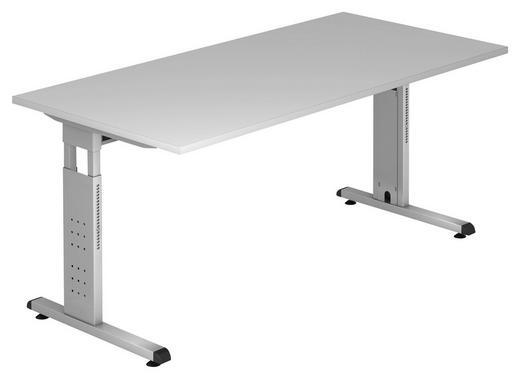 SCHREIBTISCH Grau - Silberfarben/Grau, KONVENTIONELL, Metall (160/65-85/80cm)