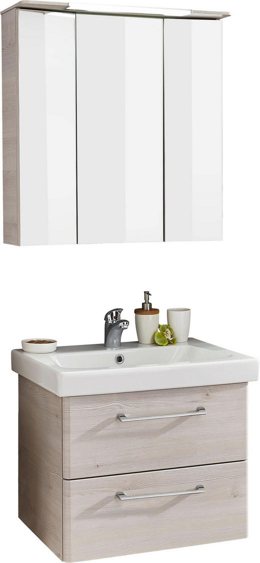 BADEZIMMER Pinienfarben - Weiß/Pinienfarben, Design, Keramik (65cm) - Sadena