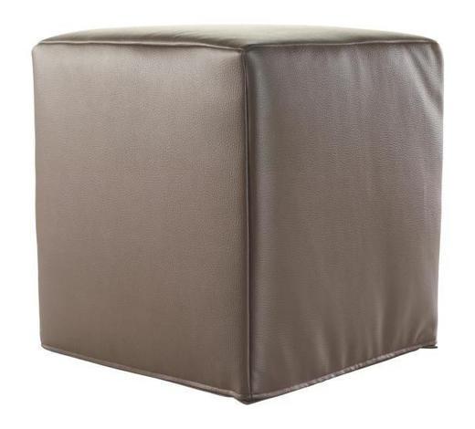 SITZWÜRFEL Lederlook Braun  - Braun, Design, Textil (36/40/36cm) - Carryhome