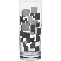 LONGDRINKGLAS - Dunkelgrau/Hellgrau, Basics, Glas (0,36l) - Homeware