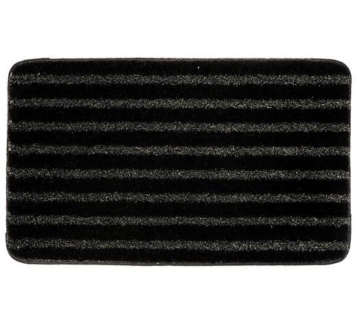 BADTEPPICH in Schwarz 70/120 cm - Schwarz, Design, Kunststoff/Textil (70/120cm) - Kleine Wolke